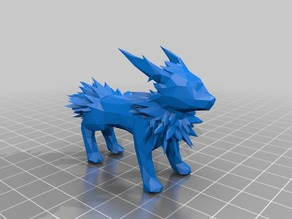 Complicated Low Poly Jolteon- Pokemon
