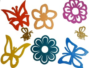 Flower, Butterfly and Bee Decals for Flexible Filament
