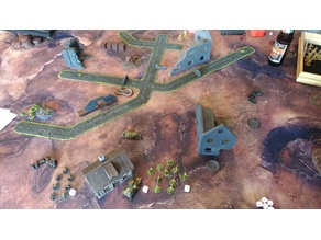 28mm Wargaming Terrain Dead Ends for Rural Roads