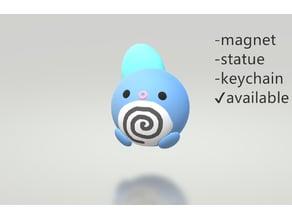 Pokemon - Poliwag [magnet+stature+keychain] cuttie pie style /ニョロモ、Poliwag