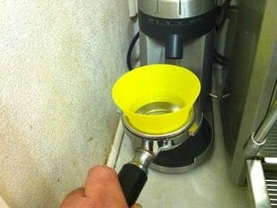 Parametric espresso grinder funnel.