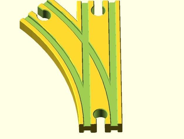 toy wood train track spielzeug holzeisenbahn schienen weiche links mitte brio thomas ikea. Black Bedroom Furniture Sets. Home Design Ideas