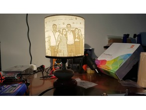 Lithophane Support for Lamps