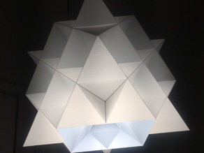 64 Tetrahedron grid lamp