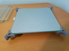 Anet A8 glass bed corner