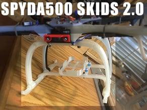 Spyda500 FPV skids 2.0