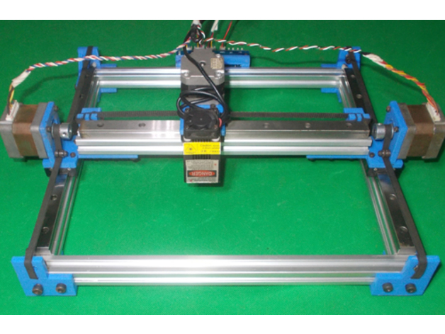 020-Homemade Laser Plotter DIY Linear Motion Guide X Y Axis