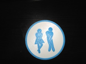 Humor Toilet Sign (with base plate)