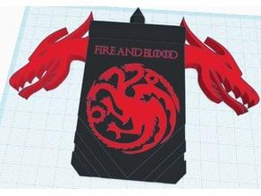 Targaryen Dragon Banner w/ Stand