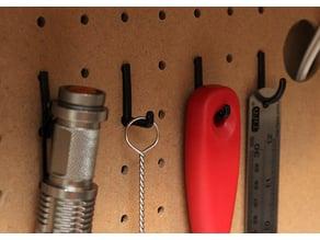 Customizable Peg Board Hook