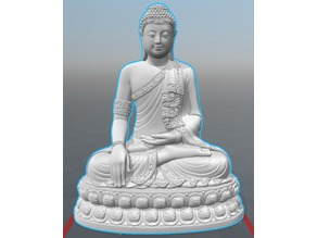 Thailand Buddha Lower Poly count and flat bottom