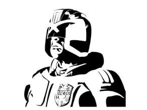 Judge Dredd stencil