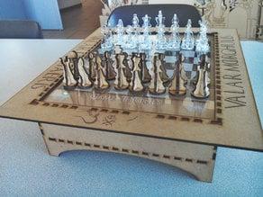 Game of Thrones Chess board Lasercut