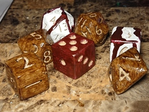 D6 Die with Pips Right Handed any game dice tabletop