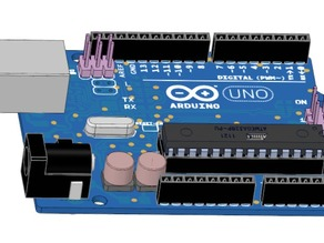 Arduino Uno R3 created by DesignSpark Mechanical