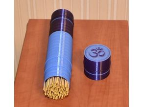 Tube Box for Storage of Incenses