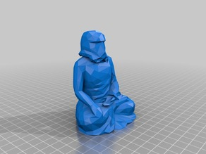 Low Poly Rulai Buddha Trooper