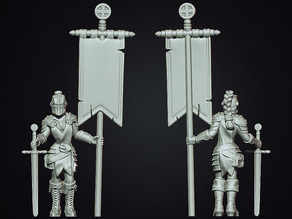 Female knight crusader standard bearer