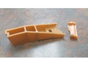 Side mount drawer slide rear support