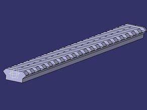 MIL-STD-1913 Picatinny rail.  8 & 12 inch long
