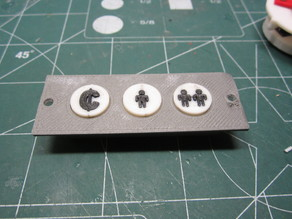 Mini Arcade Coin and Player Buttons