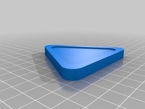 Triangular air hockey puck