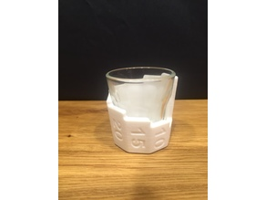 Shot glass measuring sleeve