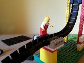 LEGO compartible flex marble run elements