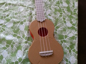 """""""Jigsaw"""" Soprano Ukulele that can be printed on a 20cm x 20cm bed."""
