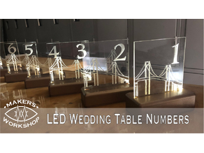 Fiber Optic Table Numbers / Night Light Base