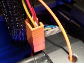 Replicator 2 Extruder Wire Bundle Strain Relief Upgrade