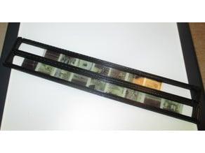 Minox film strip holder for flatbed scanner