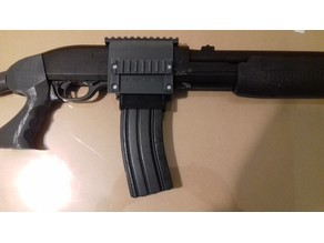 Airsoft Shotgun to M4 magazine adapter