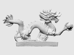 3D scan of plastic dragon 2