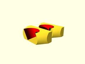 Kossel Clear Top PVC Spool Holder Brackets
