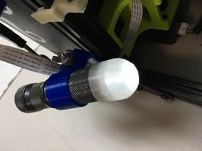 Flashlight diffuser 25.85mm ID