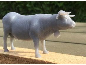 3d scanned Hérens cow