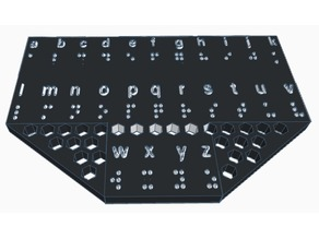 Braille Alphabet Translator A-Z 18 x 12 cm