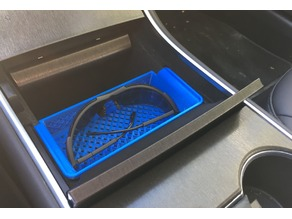 Tesla Model 3 center console trays (2019 design refresh)