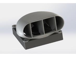 90 Degree 120mm Fan Exhaust