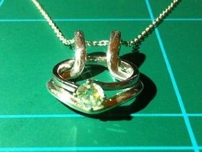 Necklace ring holder