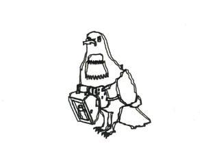 Carrier Pigeon Unicorn Illustration
