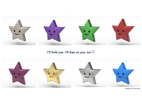 cute star miniature toy