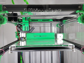 Ultimaker 2 Extended Aluminum Extrusion Back Cover