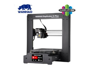 Wanhao Duplicator i3 plus profile on Simplify3D