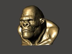 Bust gorilla
