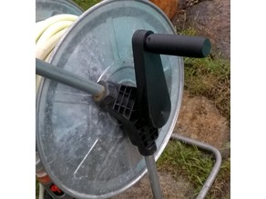 Crank for garden hose cart