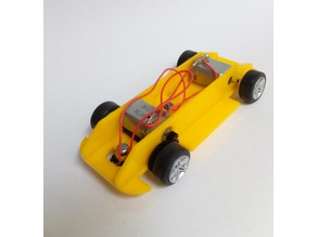 Scalextric chassis with transverse motor all wheel drive