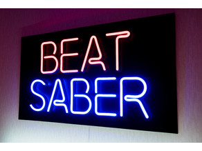 The Beat Saber Neon Sign