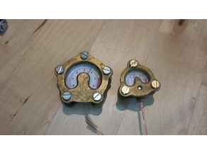 Steampunk Ornament Manometer 3 flanshes